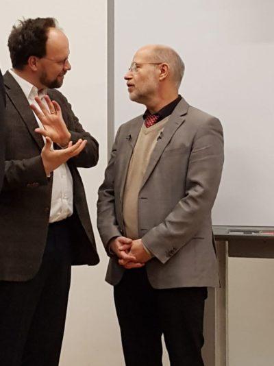 MdL Patrick Friedl mit Harald Lesch.