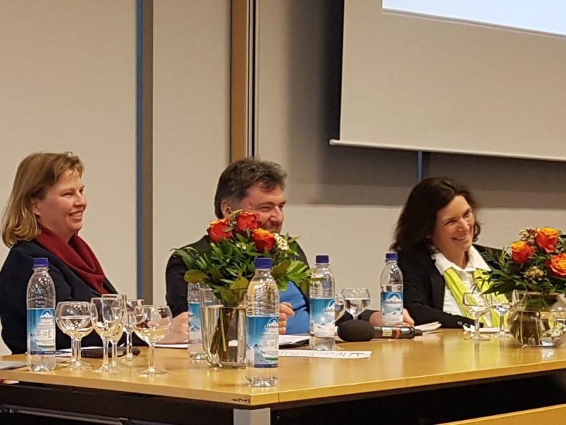v.l.n.r. MdL Ruth Waldmann, Holger Kiesel, MdL Kerstin Celina.