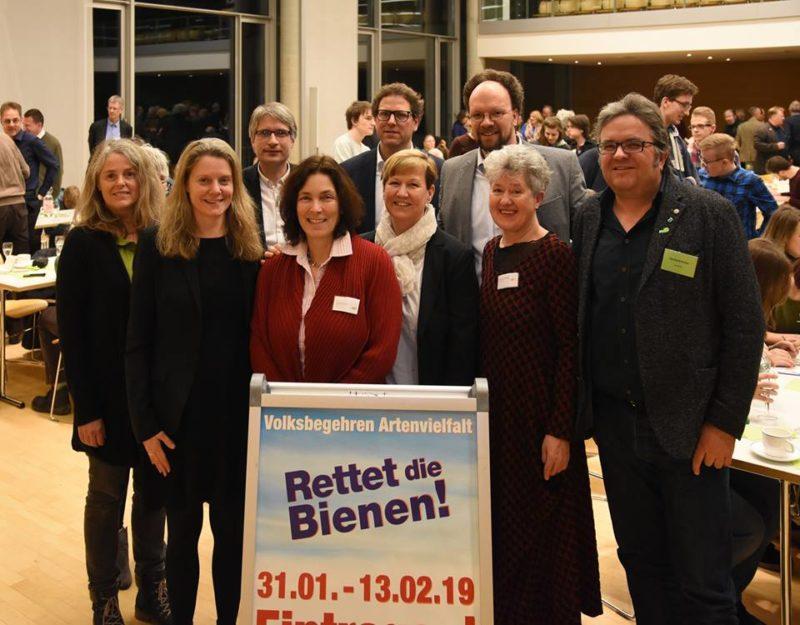 Neujahrsempfang der Grünen Würzburg-Land. Mit Christina Feiler, Henrike Hahn, Sven Giegold, Kerstin Celina, Martin Heilig, Bärbel Imhof, Christa Grötsch, Patrick Friedl und Gerhard Müller.