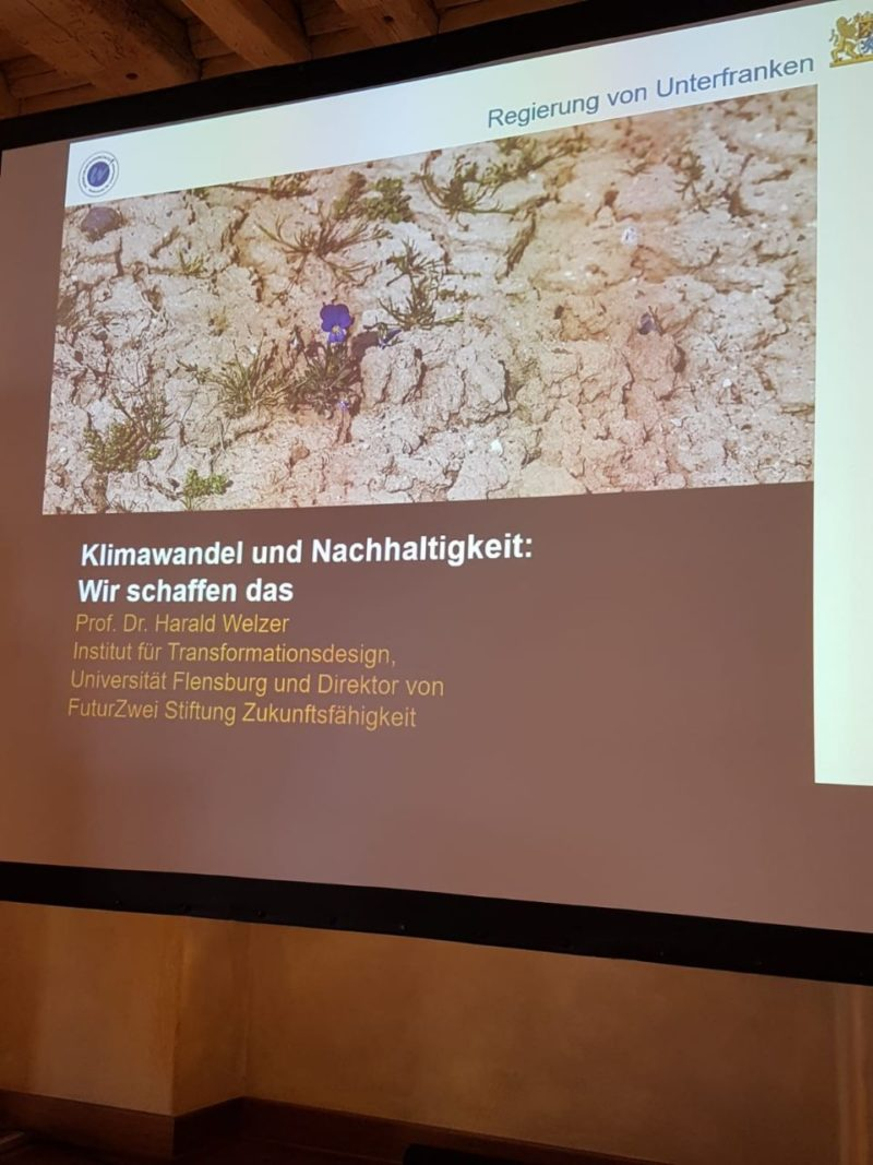 Vortrag von Prof. Dr. Harald Welzer: Klimawandel und Nachhaltigkeit.