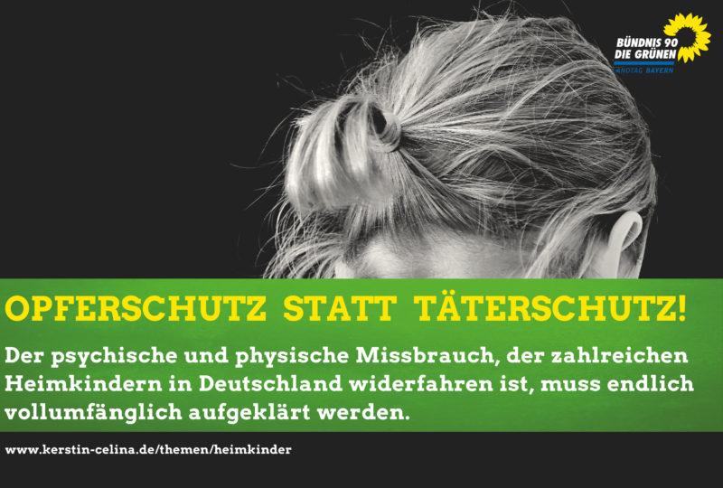 """Sharepic """"Opferschutz statt Täterschutz""""."""