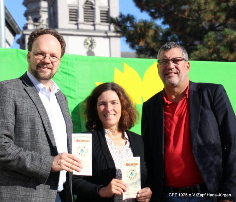 Im Bild von links nach rechts: Patrick Friedl, Kerstin Celina und Jürgen Wohlfart Fotograf: Jürgen Zapf.